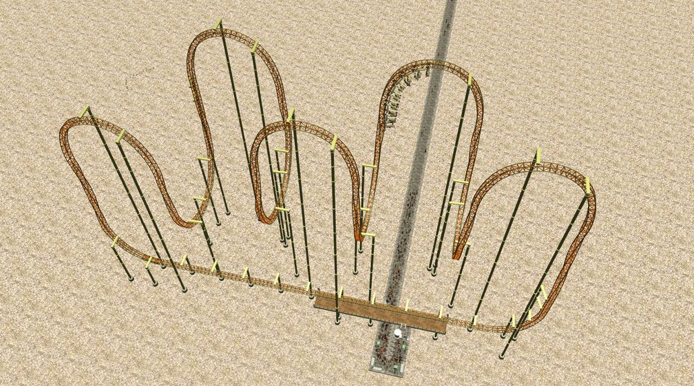 Demo Screenshot Image 01, My Downloads - Coasters, Rides, & Attractions - Coaster: The Red Asp