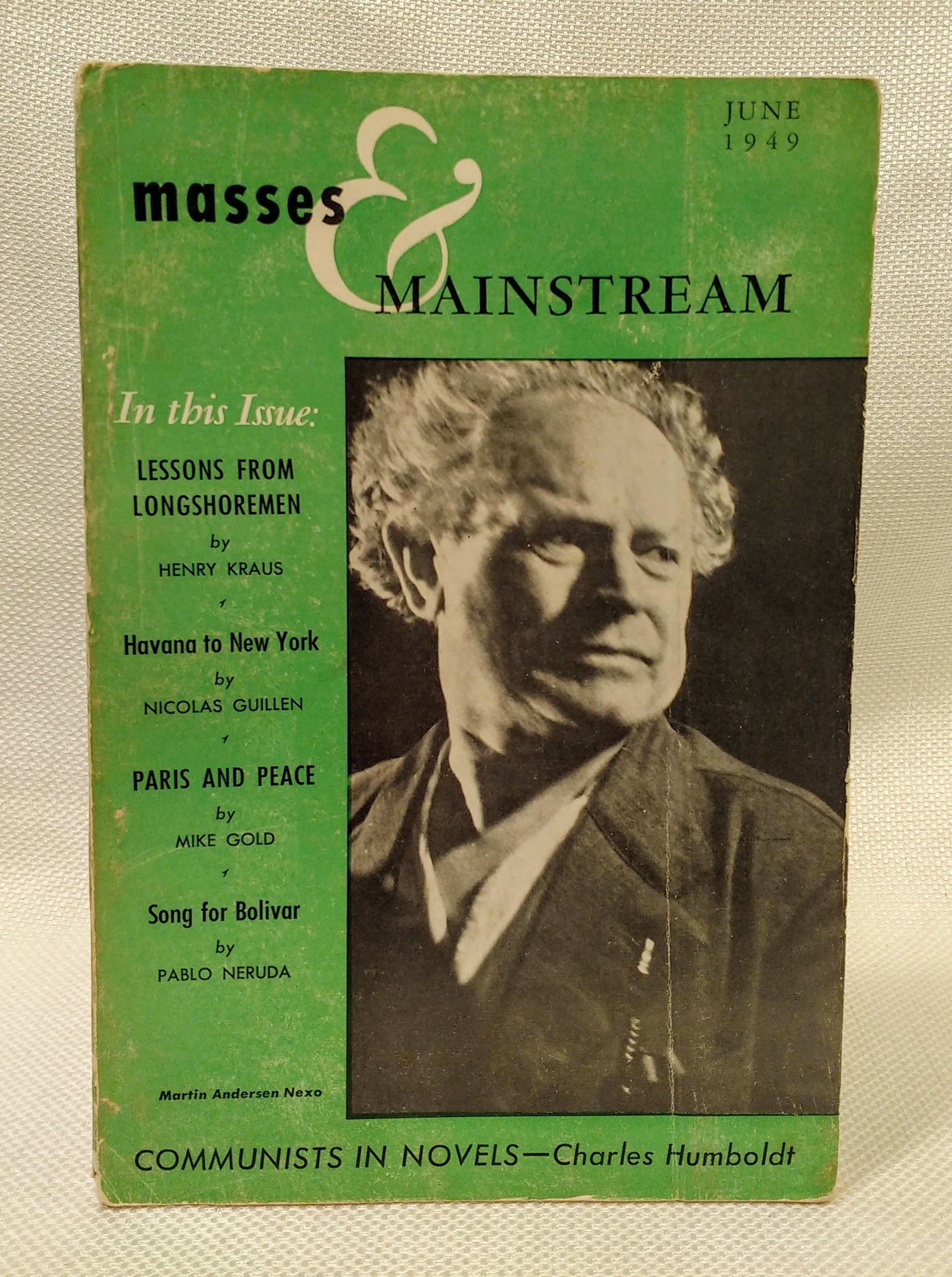 Masses & Mainstream; Vol. 2, No. 6 (June 1949), Sillen, Samuel [ed.]; Aptheker, Herbert [Assoc. Editor]; Brown, Lloyd [Assoc. Editor]; Humboldt, Charles [Assoc. Editor]