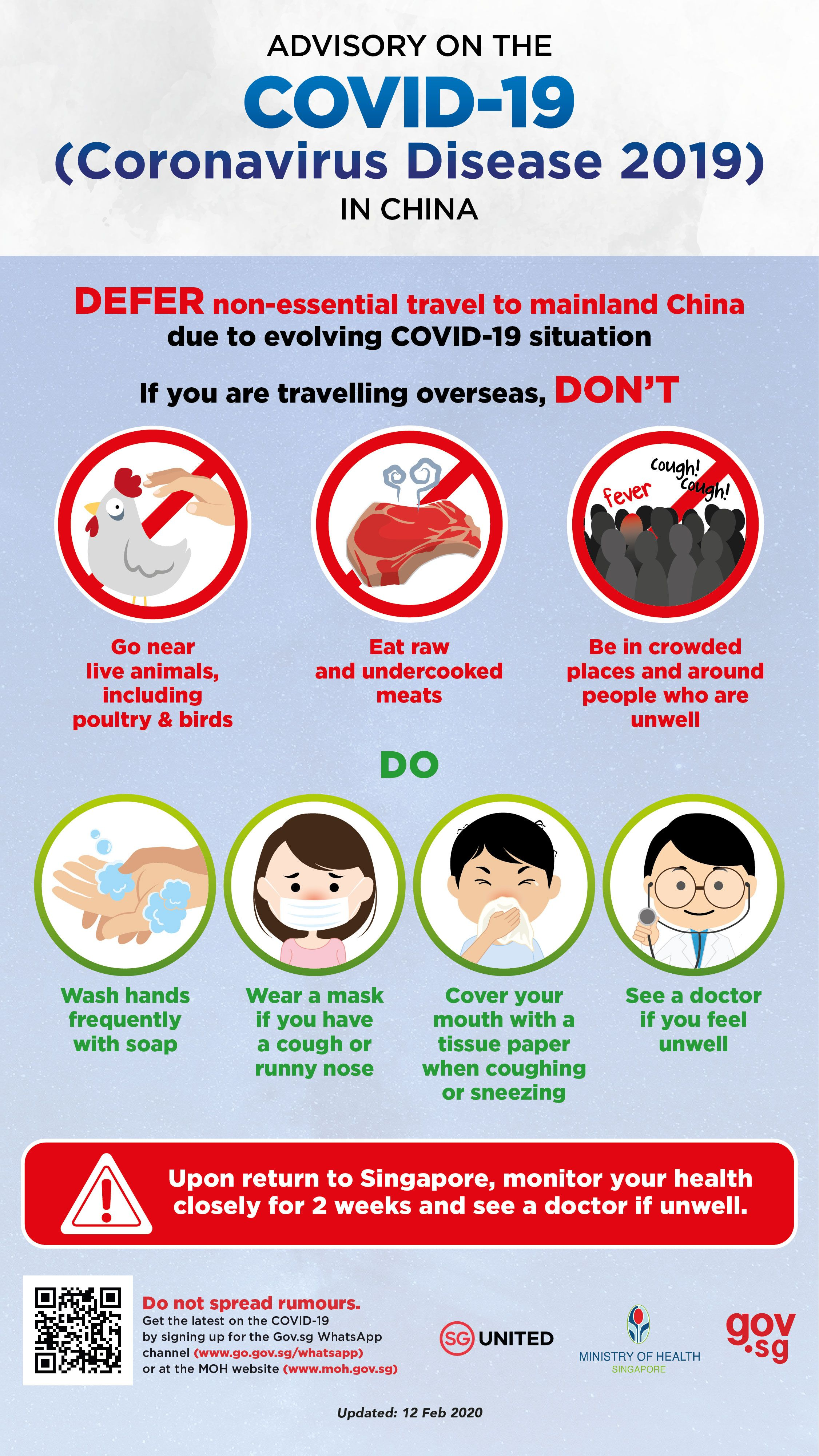 Advisory on Coronavirus Disease 2019