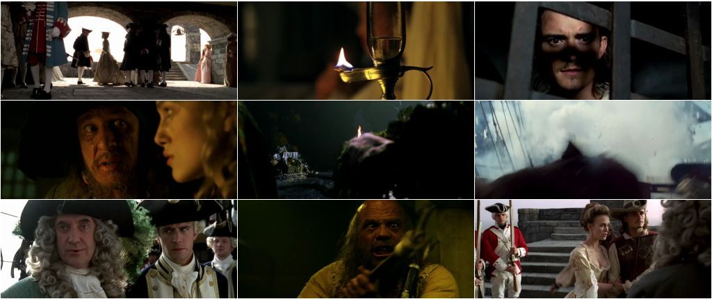 Download The Curse of the Black Pearl (2003) Free in Dual Audio 720p Bluray 1Gb