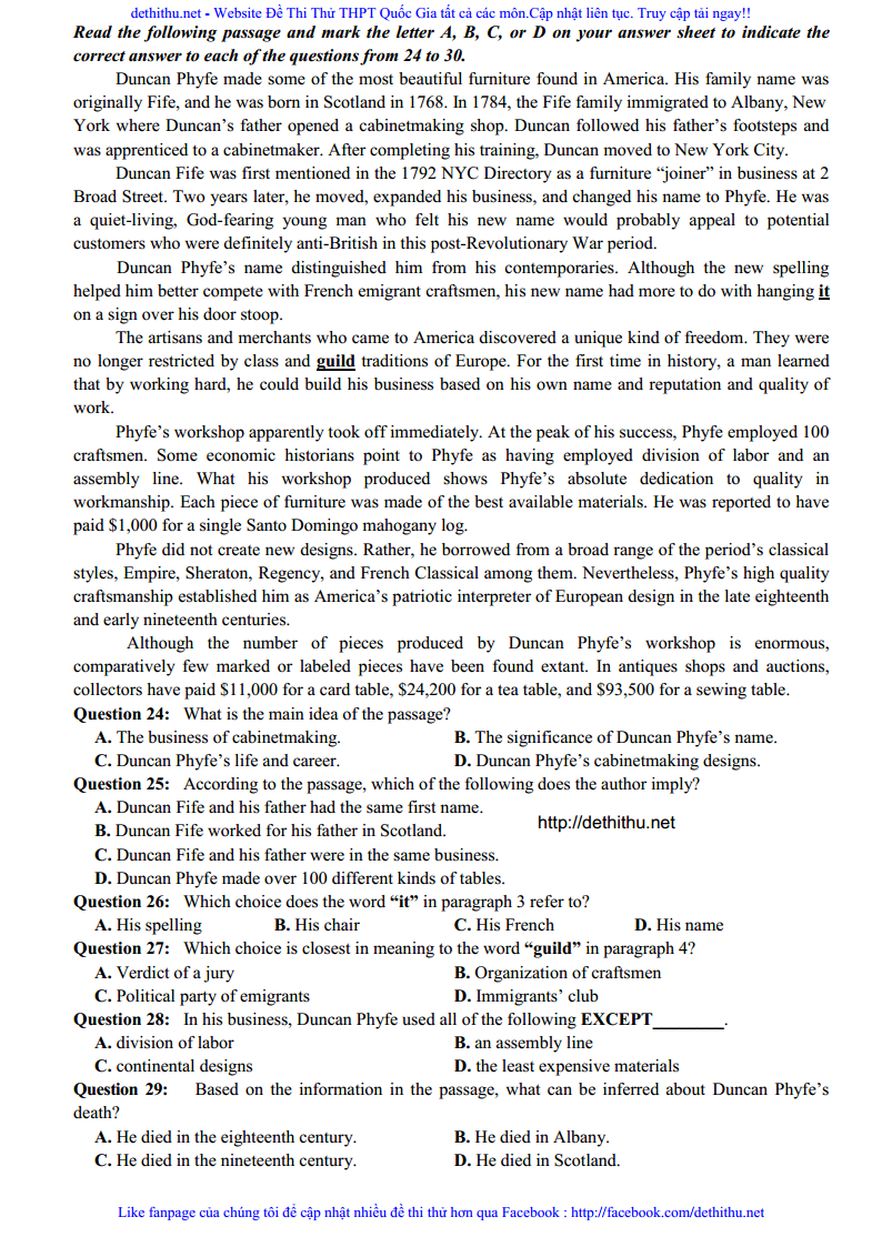 De thi va dap an mon Anh THPT Chuyen DH Vinh lan 1 nam 2018 trang 9