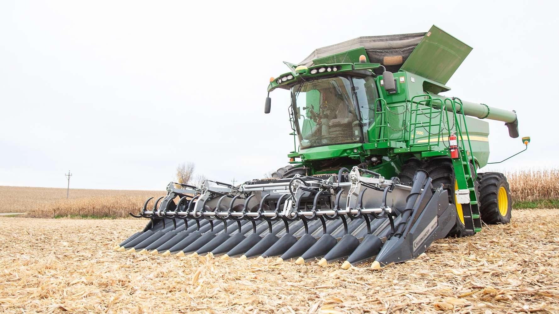 narrow row freedom corn head
