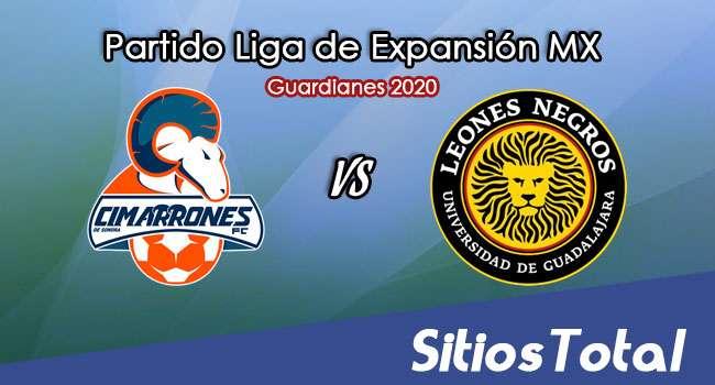 Cimarrones de Sonora vs Leones Negros en Vivo – Liga de Expansión MX – Guardianes 2020 – Domingo 18 de Octubre del 2020