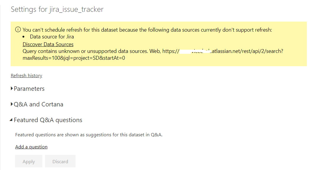 Solved: Data sources don't support refresh - Microsoft Power BI