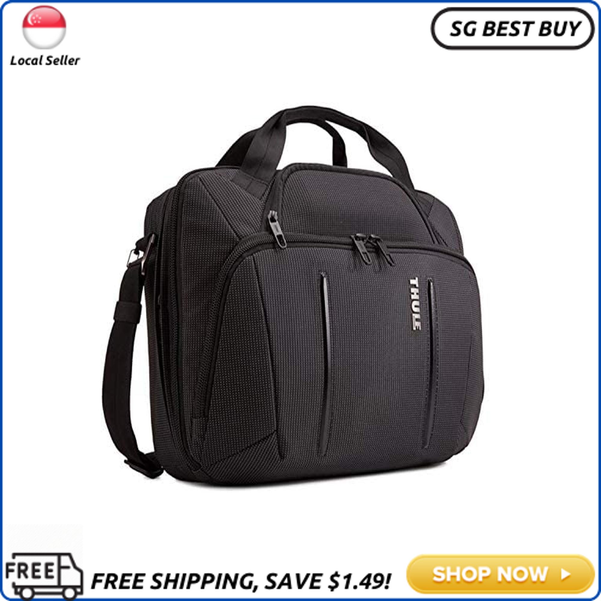 (SG SELLER) Thule Crossover 2 Laptop Bag 15.6, Black, 17.3 x 5.9 x 12.6 in