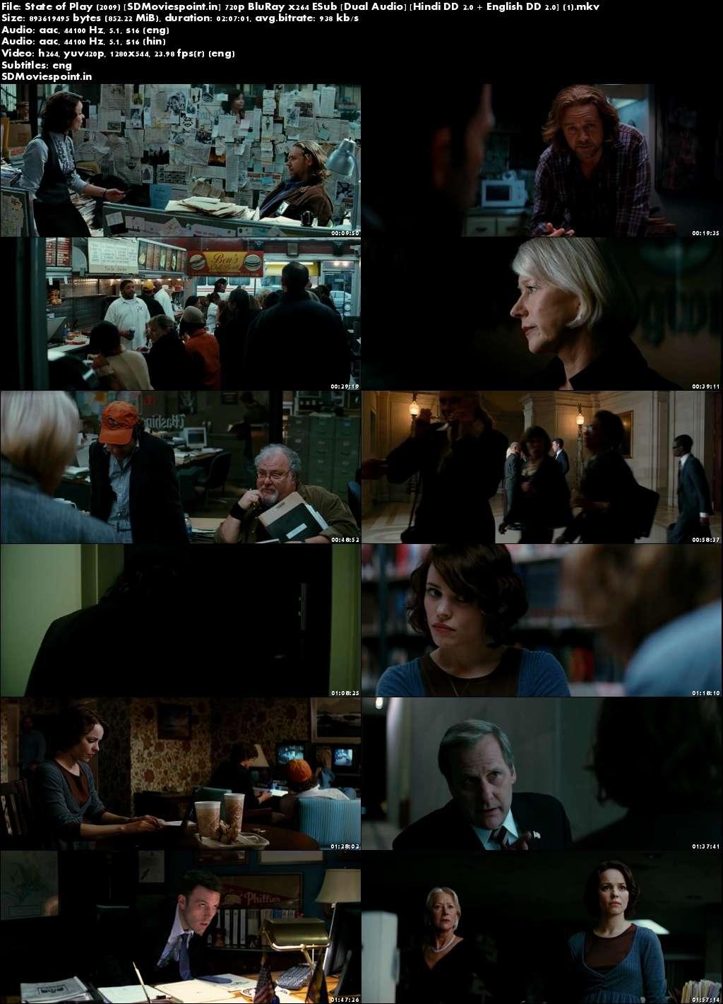 Screen Shots State of Play (2009) Full HD Movie Download Dual Audio Hindi Free 720p