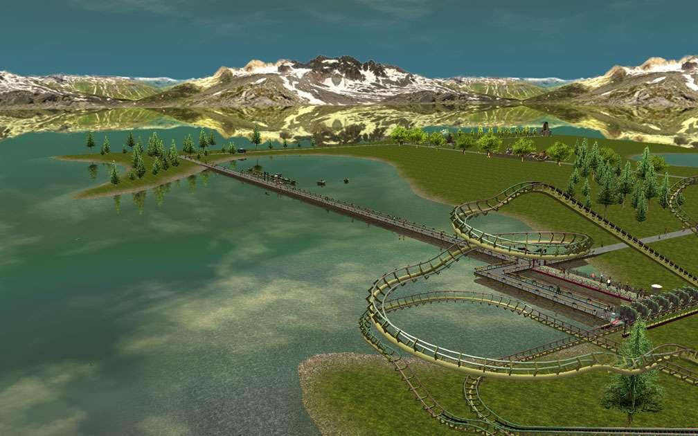 Illustration 04, Third Vista Screenshot, FlightToAtlantis.net - My Downloads, Parks and Coasters - Scenario: Indian Lake