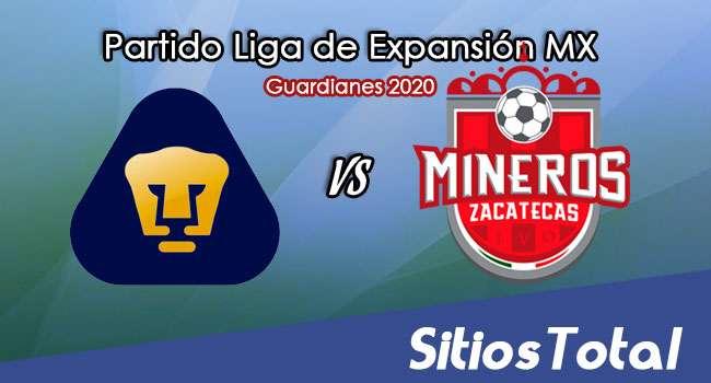 Pumas Tabasco vs Mineros de Zacatecas en Vivo – Liga de Expansión MX – Guardianes 2020 – Miércoles 2 de Septiembre del 2020