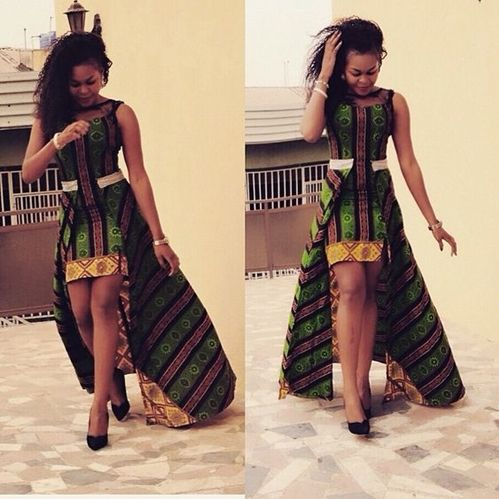 simple Ankara dress ,latest long Ankara gown
