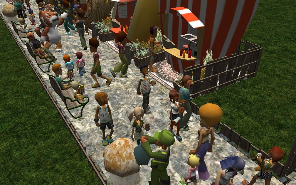 Image 02, RCT3 Public File Share: Available Downloads - Custom Scenery - RCT2 Wonderland Themed Set