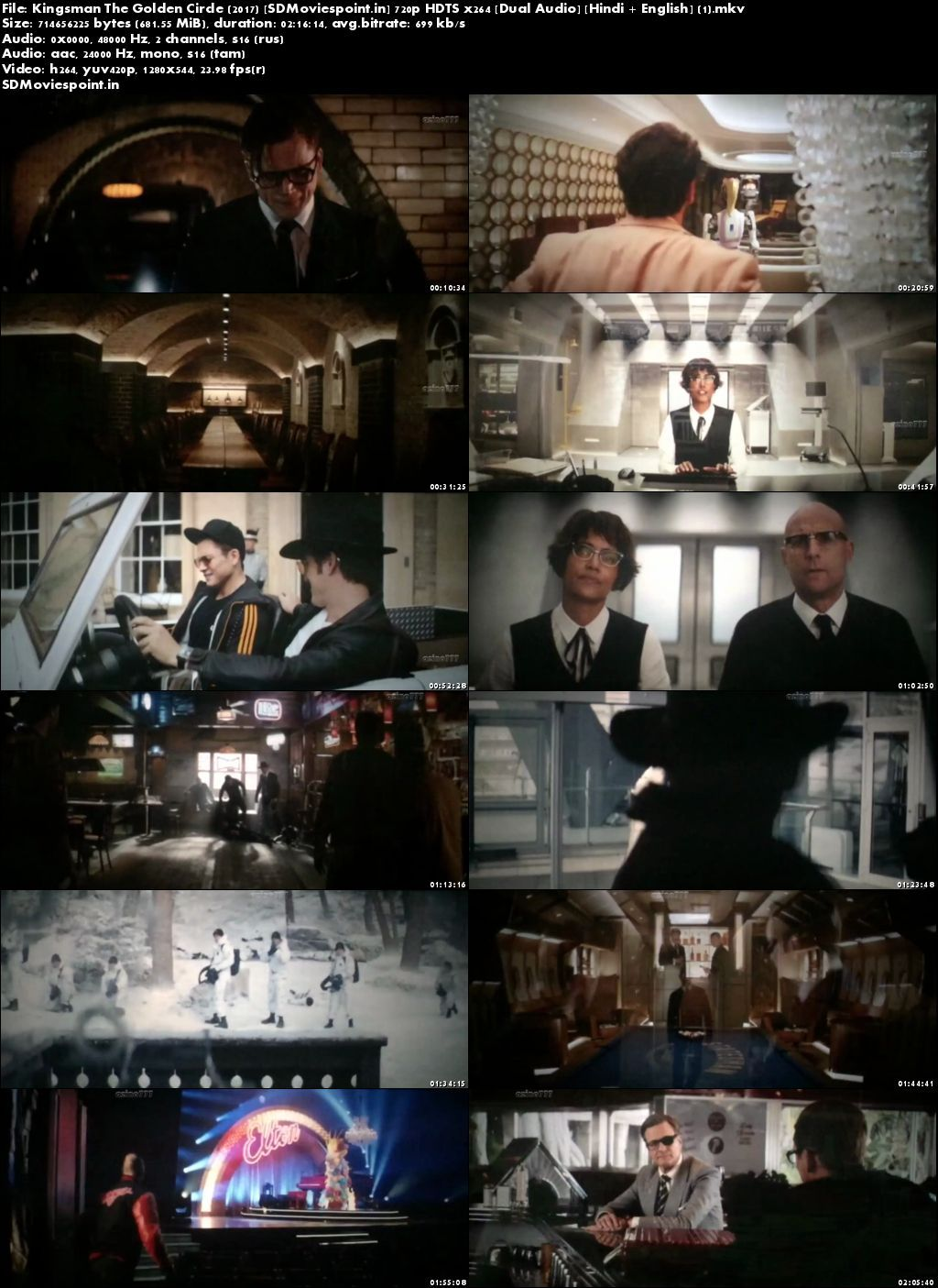 Screen Shots Kingsman The Golden Circle (2017) Full HD Movie Download Dual Auido    Film Details.  Name: – Kingsman: The Golden Circle (2017) IMDB Rating: – 7.3/10 Director: – Matthew Vaughn Genre: – Action, Adventure, Comedy Language: – Dual Audio (Tamil/Russian) Released Date: – 20 September 2017 (UK) Stars Cast: – Taron Egerton, Colin Firth, Mark Strong Size: – 681MB Quality: – HDTS More Information.  Story – Movie Upload by SDMoviespoint, When their headquarters are destroyed and the world is held hostage, the Kingsman's journey leads them to the discovery of an allied spy organization in the US. These two elite secret organizations must band together to defeat a common enemy. Kingsman: The Golden Circle (2017) Full Hindi Movie 720p In Full HD Download. Free Download Kingsman: The Golden Circle (2017) Hindi Movie Full 720p HD High Definition with Single Download links. By Sdmoviespoint Kingsman: The Golden Circle (2017) Full Movie Download Free. IMDB Screen Shoot    Download Torrent  Direct Download  Watch Online  Kingsman: The Secret Service (2014) Full HD Movie Download Hindi Dubbed 1080p Take Me Home Tonight 2011Full HD Movie Download Hindi Dubbed Fast And Furious 8 Full Movie in Hindi Dubbed HD xXx Return of Xander Cage 2017 Full Movie Download Hindi Dubbed The Expendables 3 Full HD Movie Download In Hindi Dual Audio 720p