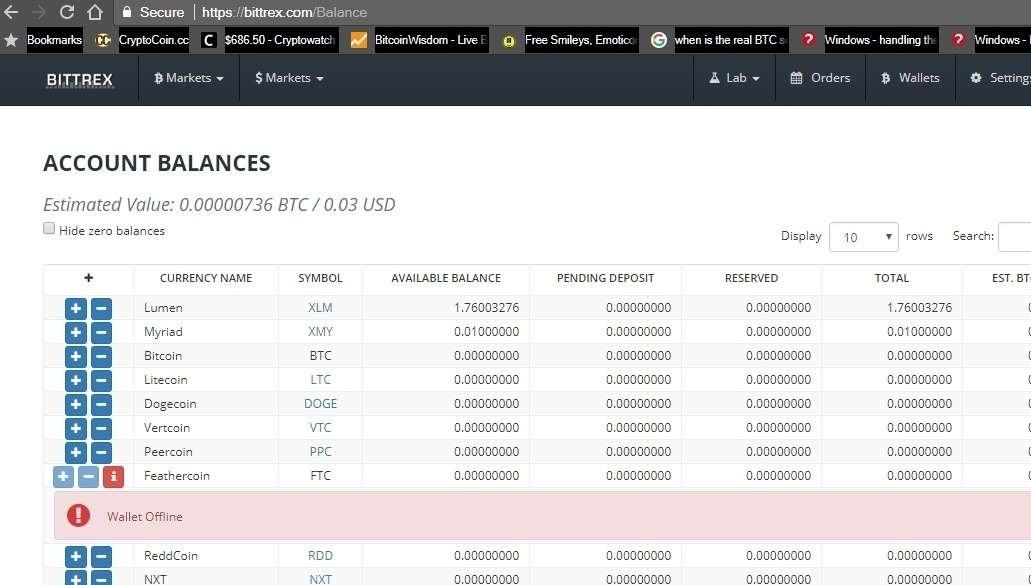 Screenshot shows 'Wallet Offline'
