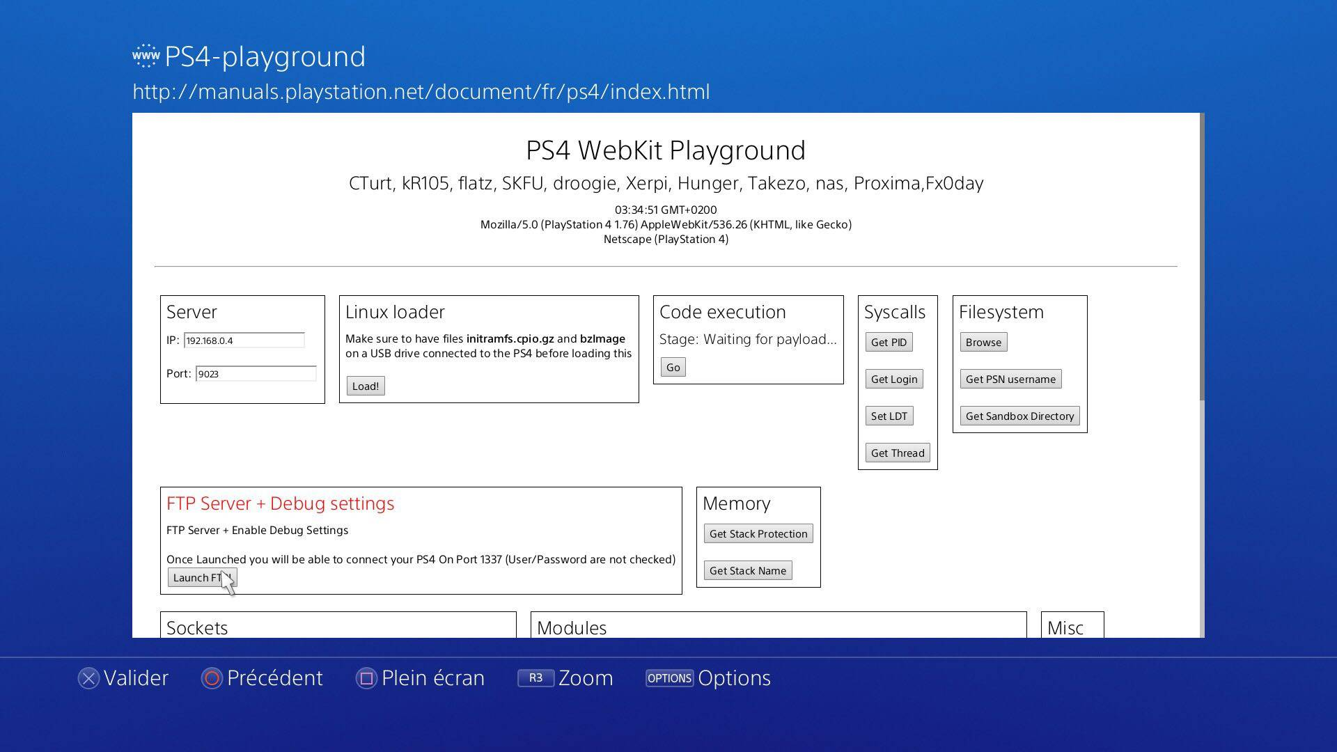 PS4 Playground With Ftp Server and Debug Settings - wololo