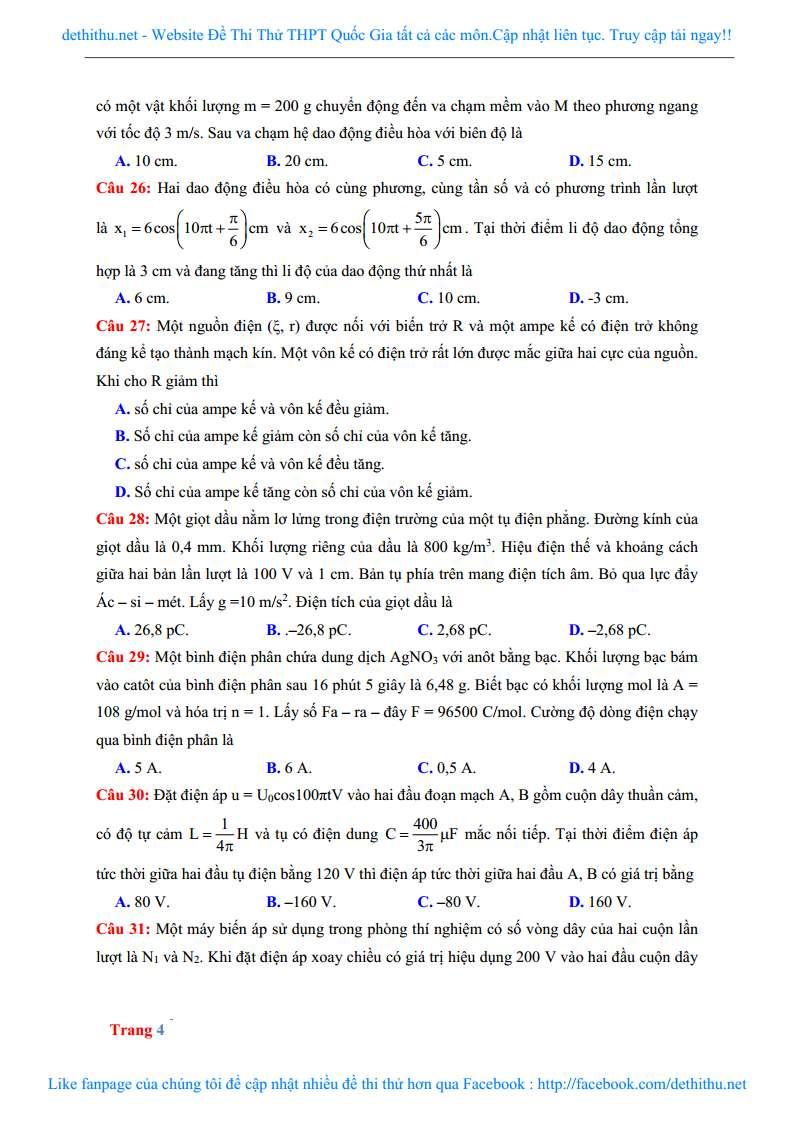 De thi thu mon Ly THPT Chuyen Ha Long 2018 giai chi tiet trang 16