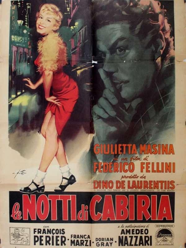 Le notti di Cabiria ΝΥΧΤΕΣ ΤΗΣ ΚΑΜΠΙΡΙΑ Poster