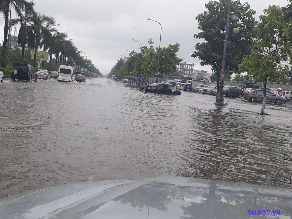 Tổng hợp  Các tuyến đường TP Vinh, Nghệ An bị ngập lụt