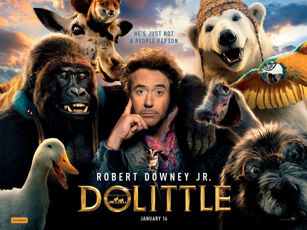 Ντούλιτλ (Dolittle) Quad Poster