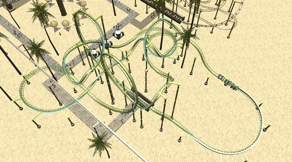 Demo Screenshot Image 01, My Downloads - Coasters, Rides, & Attractions - Coaster: The Green Serpent