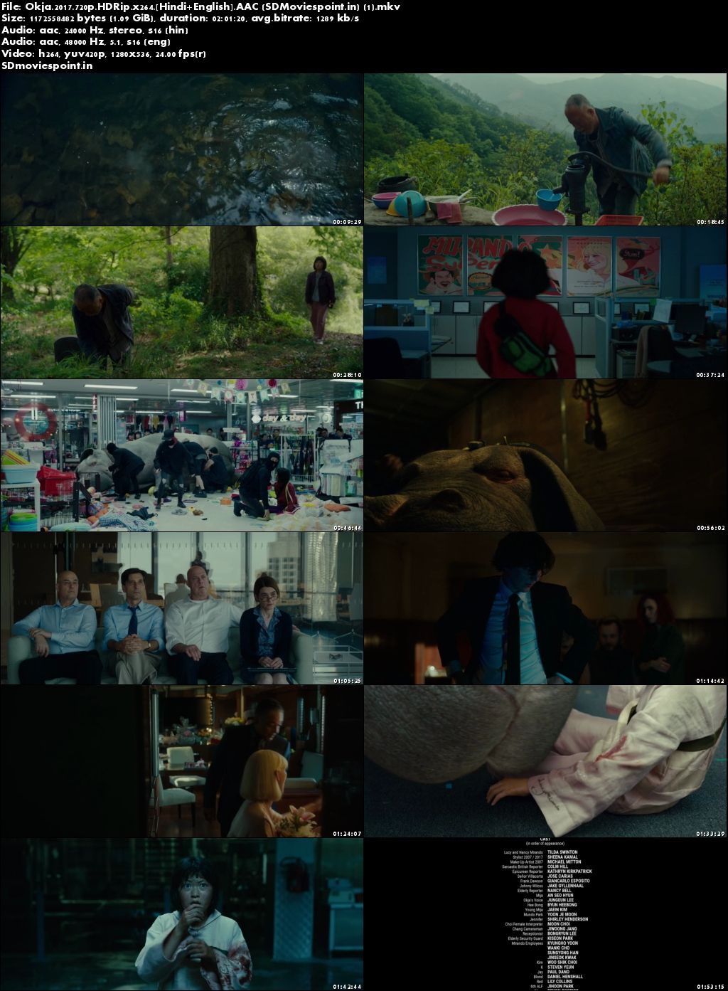 Screen Shots Okja (2017) Full Movie in Hindi Dubbed Download 720p Dual Audio