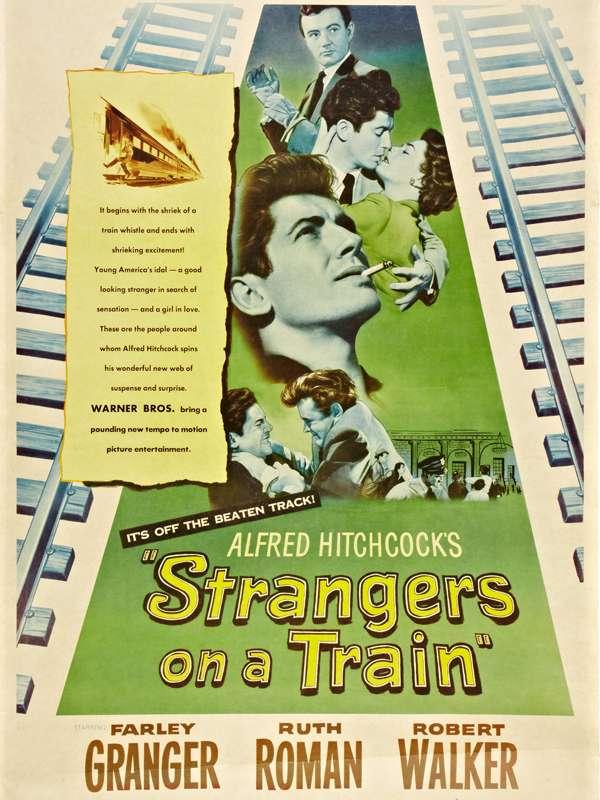 STRANGERS ON A TRAIN Ο ΑΓΝΩΣΤΟΣ ΤΟΥ ΕΞΠΡΕΣ Poster