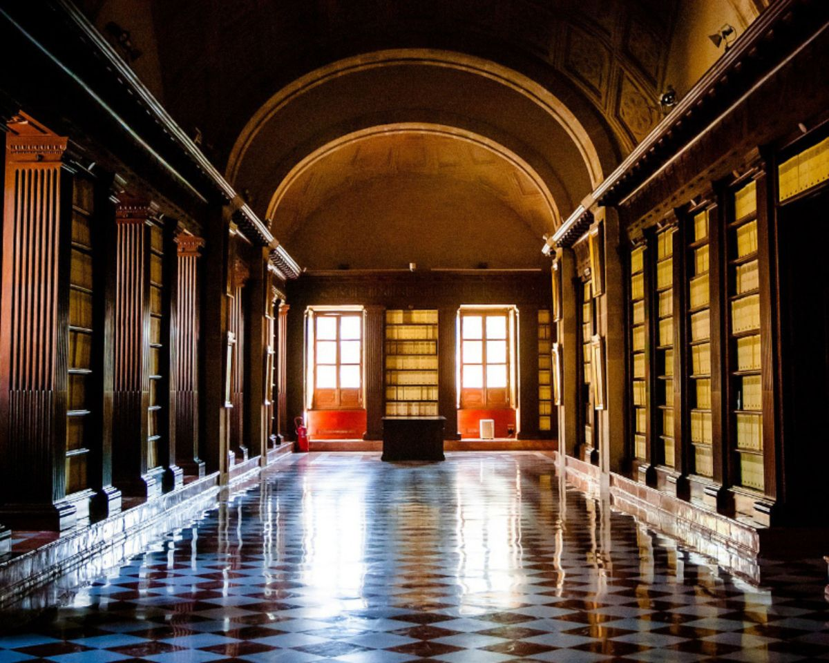Archive hallway