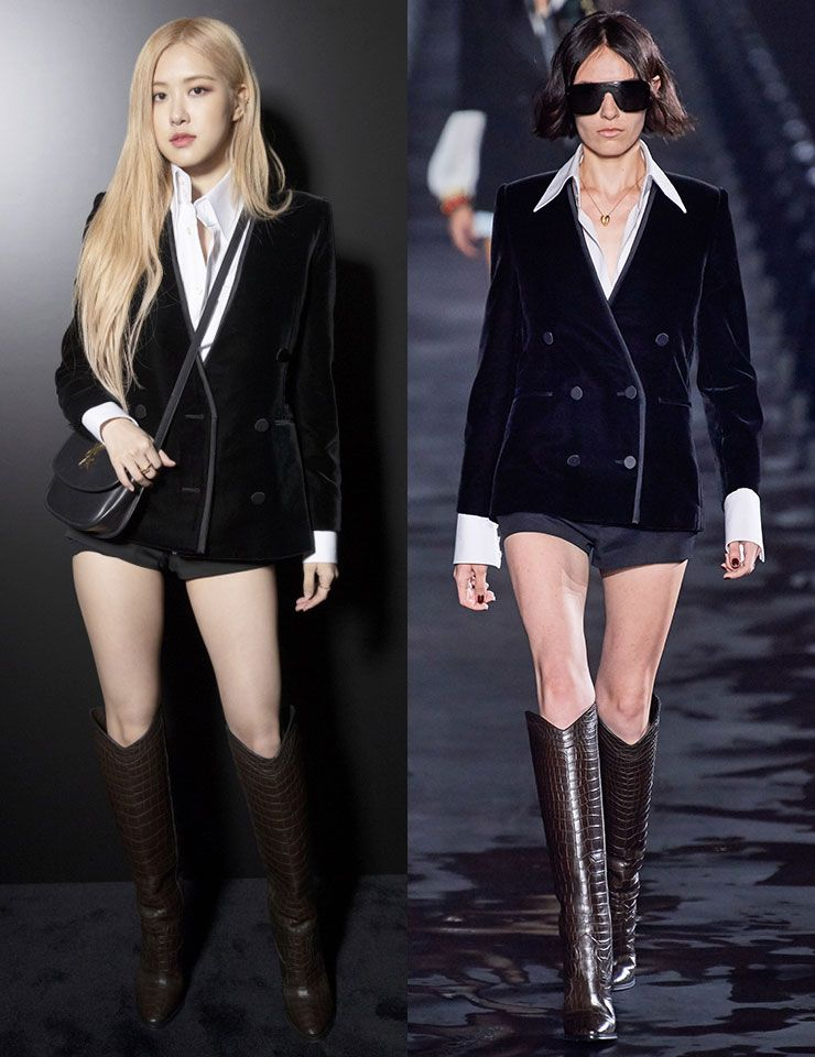 Fashion Week Korean Celebrities K-pop Stars Rose Yves Saint Laurent