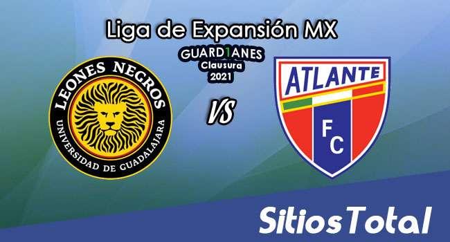 Leones Negros vs Atlante en Vivo – Canal de TV, Fecha, Horario, MxM, Resultado – J7 de Guardianes Clausura 2021 de la  Liga de Expansión MX