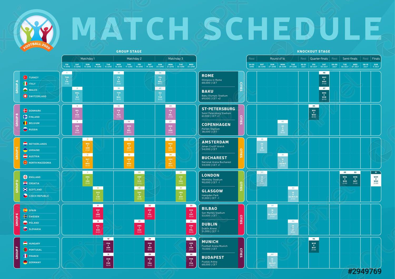 Calendario Euro 2020