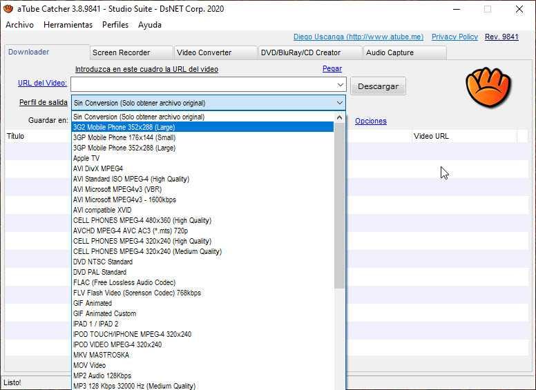 ATube Catcher te permite descargar y convertir videos de varias plataformas