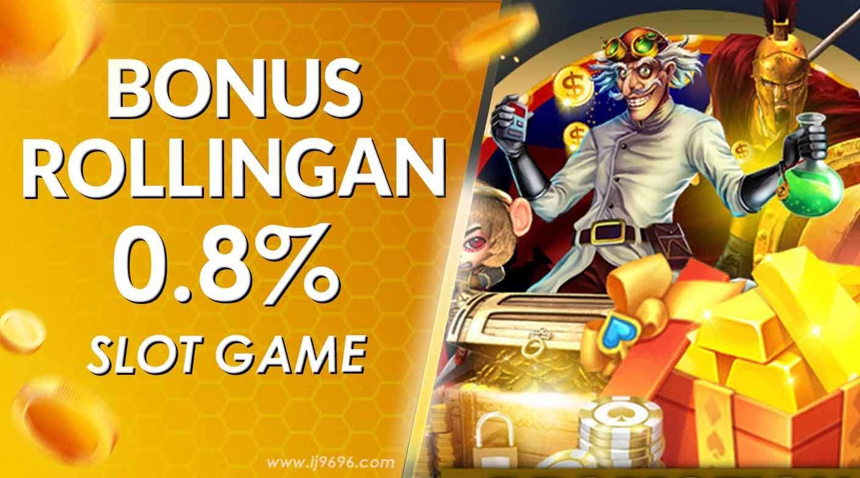 Rollingan Mingguan Slots Game 0.80%