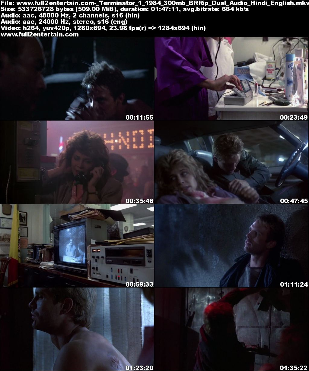 The Terminator 1 (1984) Full Movie Free Download HD 950mb