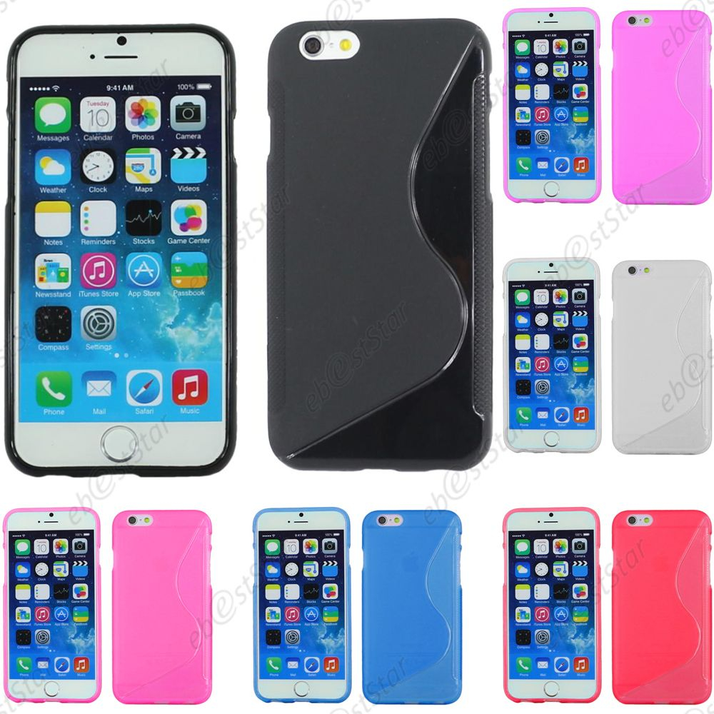 housse etui coque silicone motif s line gel souple apple iphone 6 6s 6s plus ebay