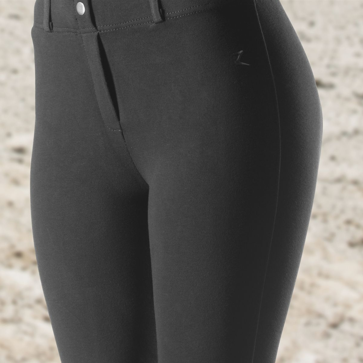 Horze-Ella-Women-039-s-Pull-On-Leather-Knee-Patch-Riding-Breeches-Knitted-Fabric thumbnail 7