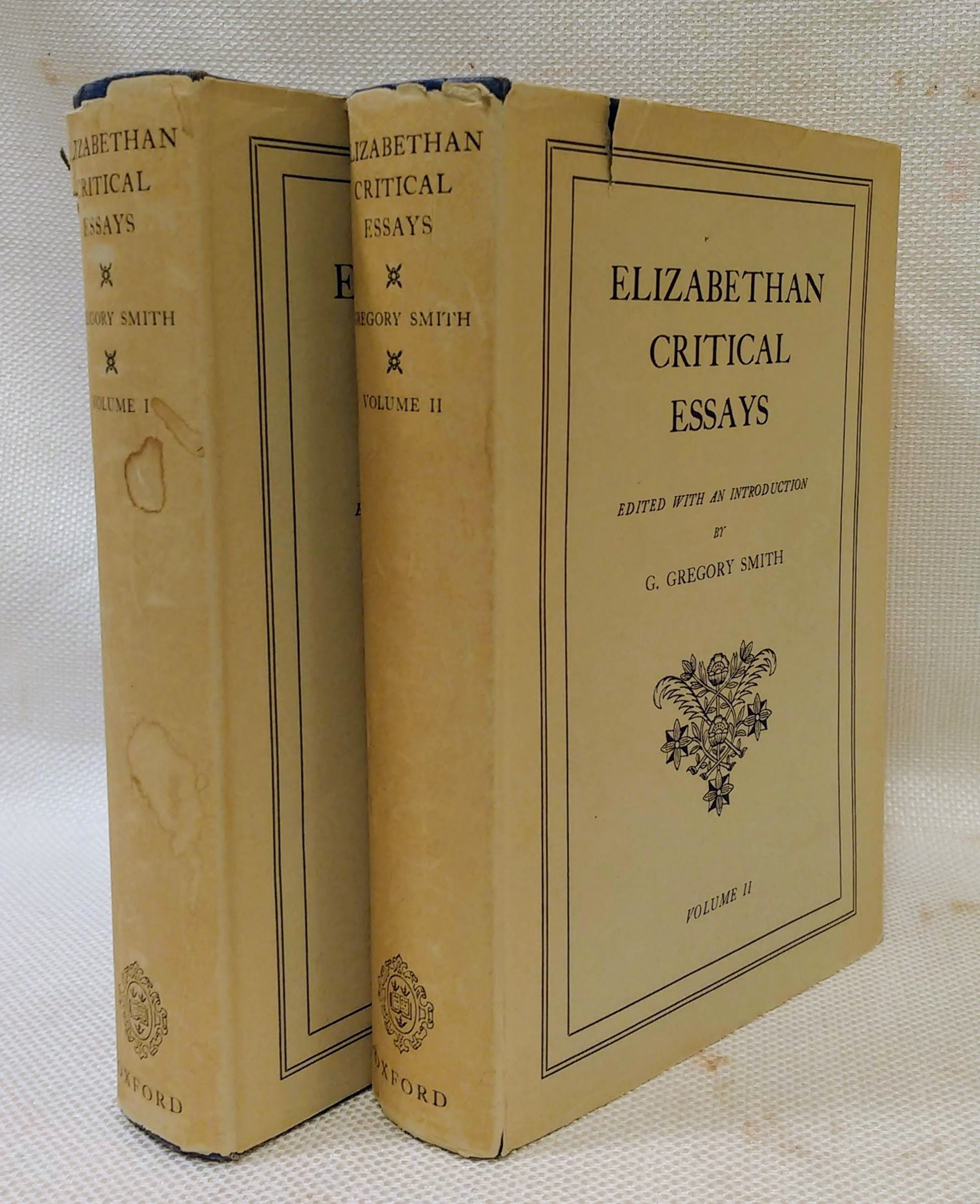 Elizabethan Critical Essays. Volumes 1 & 2, SMITH, G. GREGORY