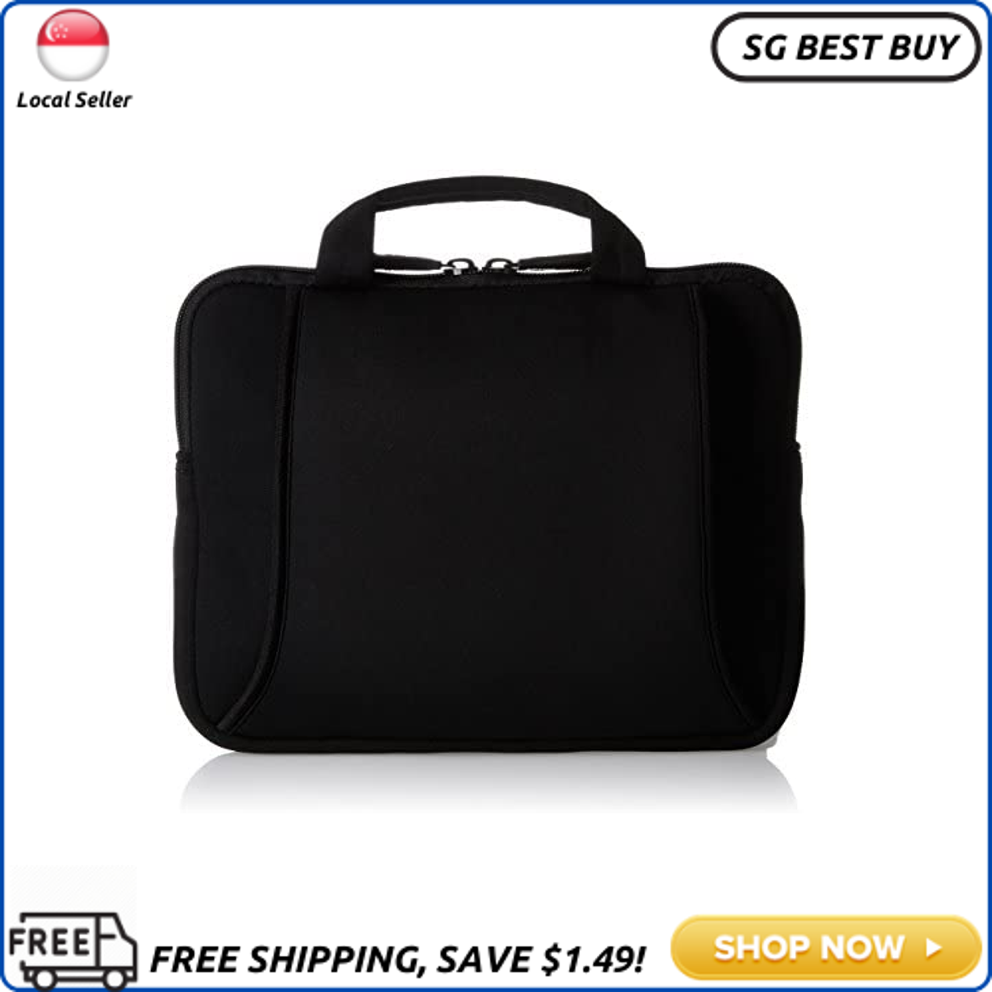 (SG SELLER - PACK OF 2) AmazonBasics 7 to 10 Laptop and Tablet Bag with Handles