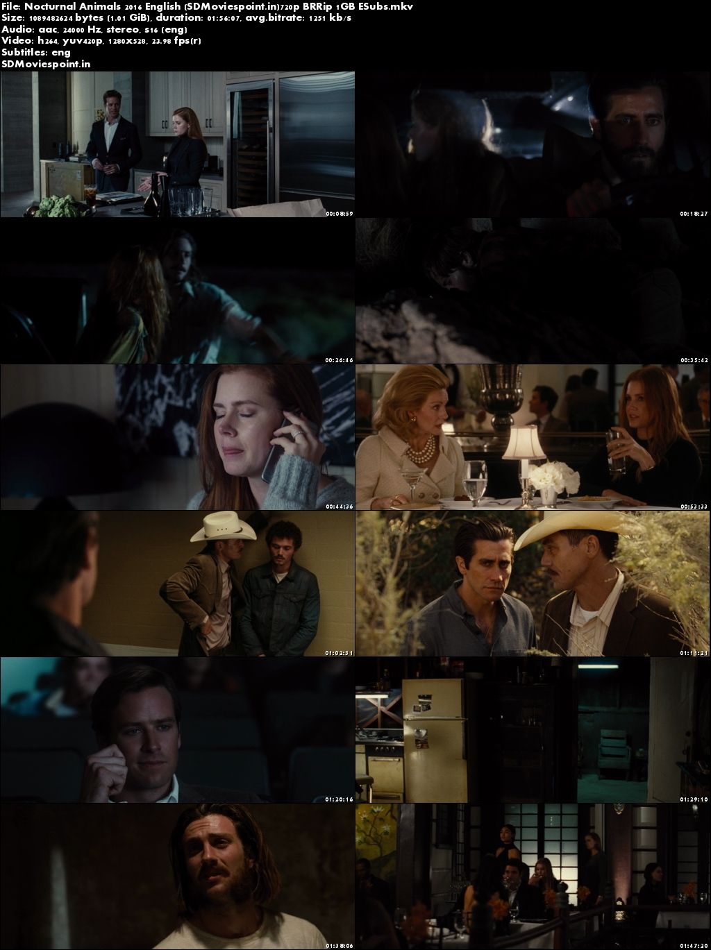 Poster Nocturnal Animals (2016) Full HD Movie Download in English 720p