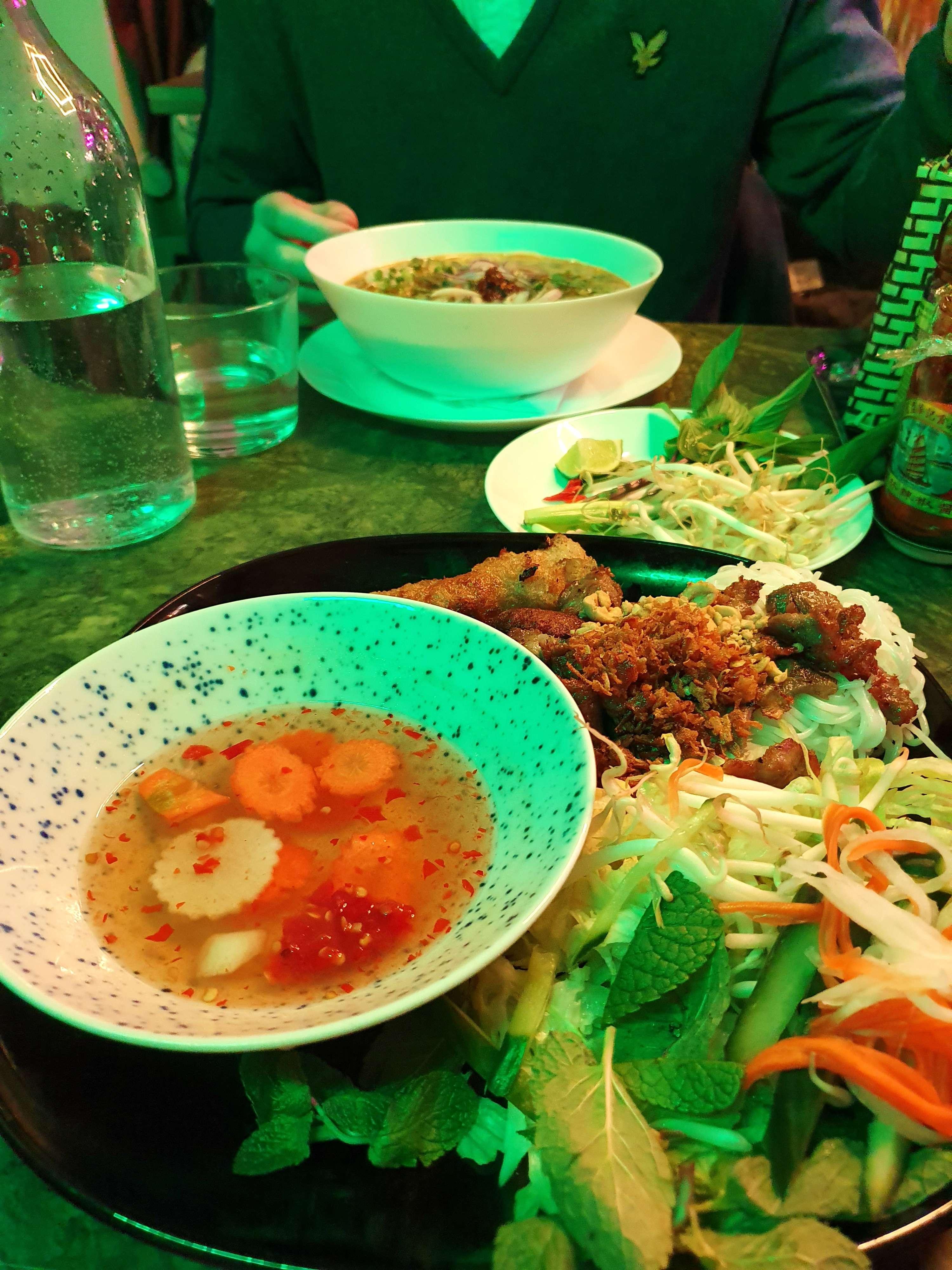 """Hanoi style's bún"" at Mama Pho"