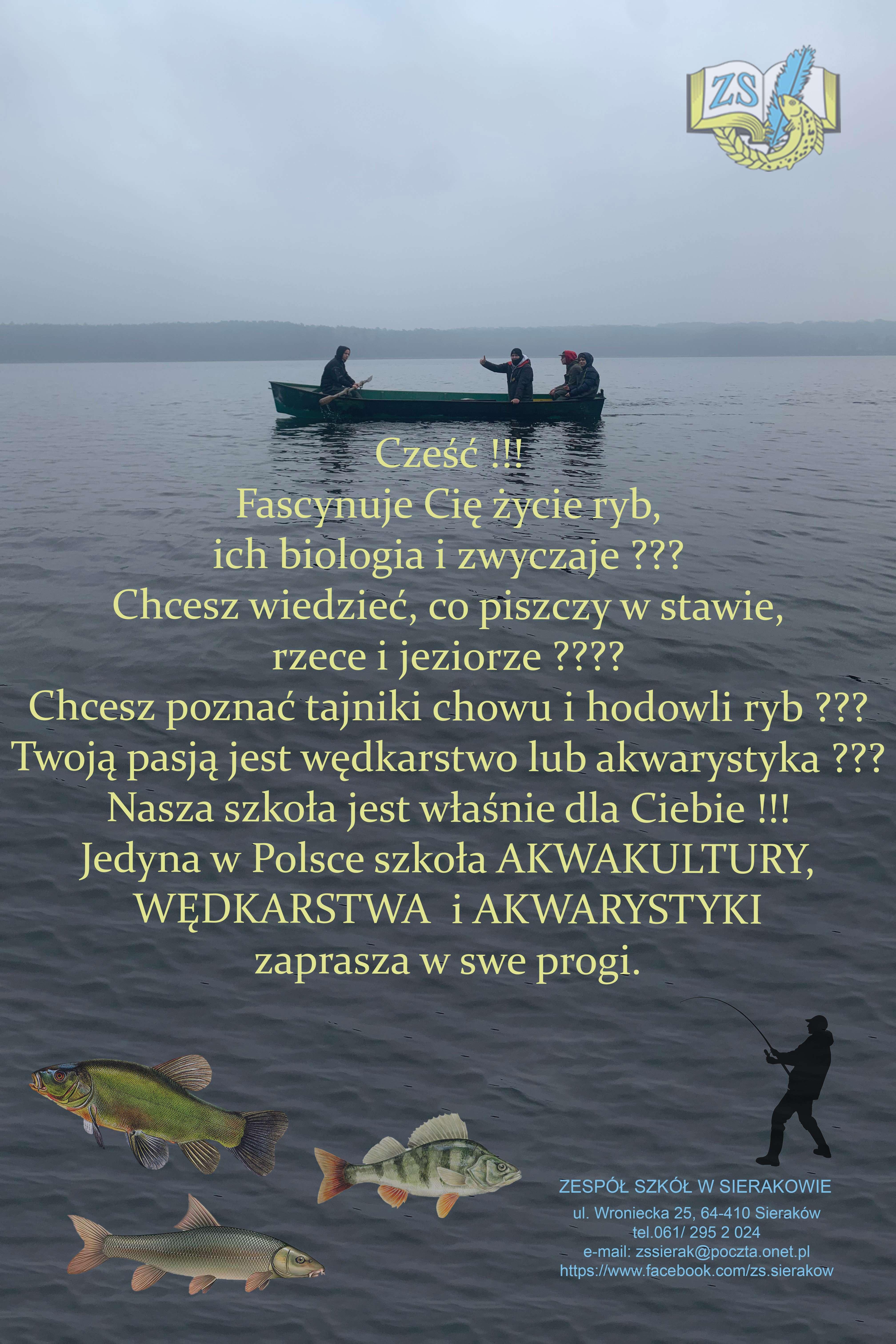 Jedyna wPolsce szkoła akwakultury, wędkarstwa iakwarystyki zaprasza
