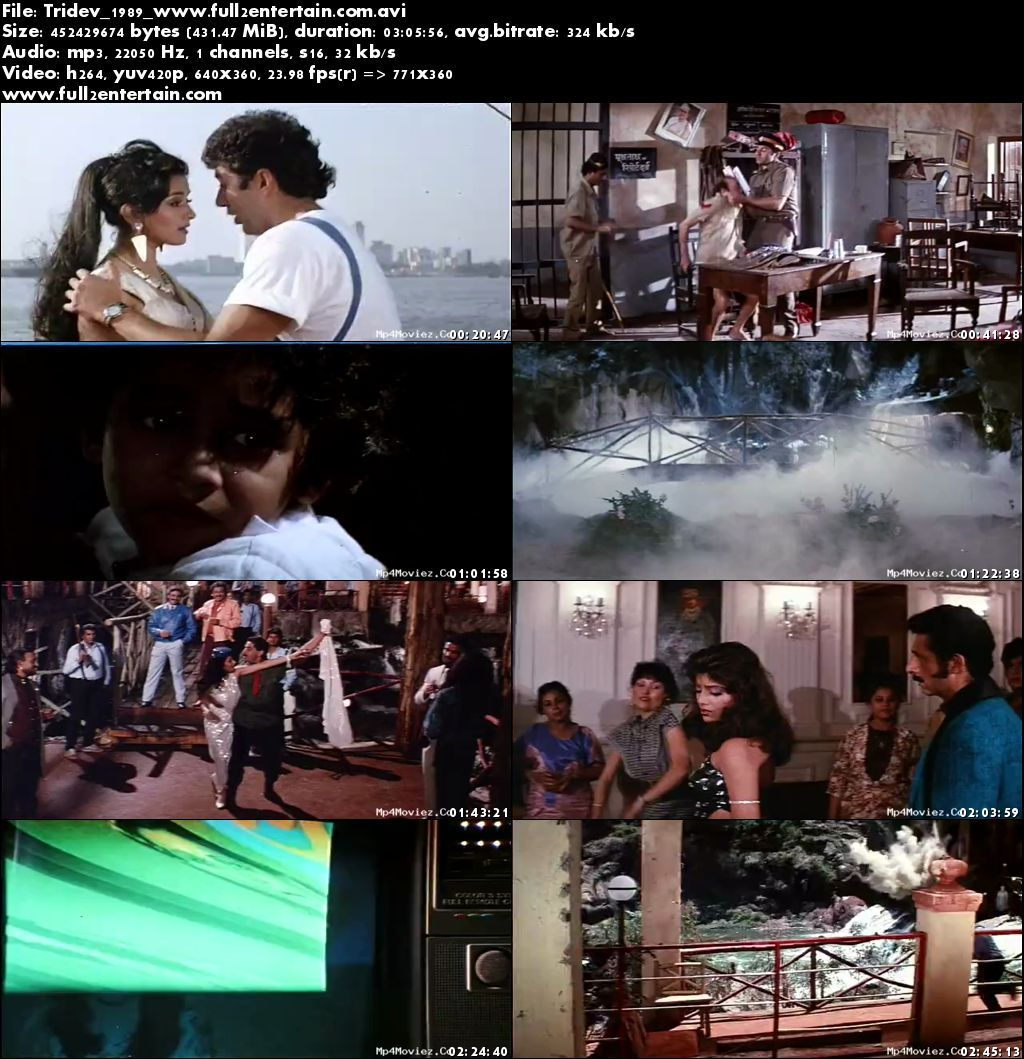 Tridev 1989 Full Movie Download Free in Bluray 720p