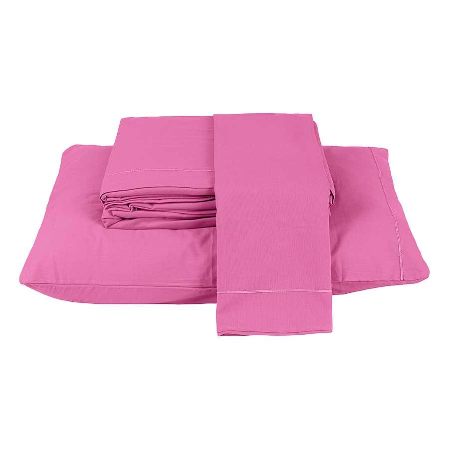 Jogo De Lençol Montreal Casal Padrão 4 Peças 150 Fios Pink