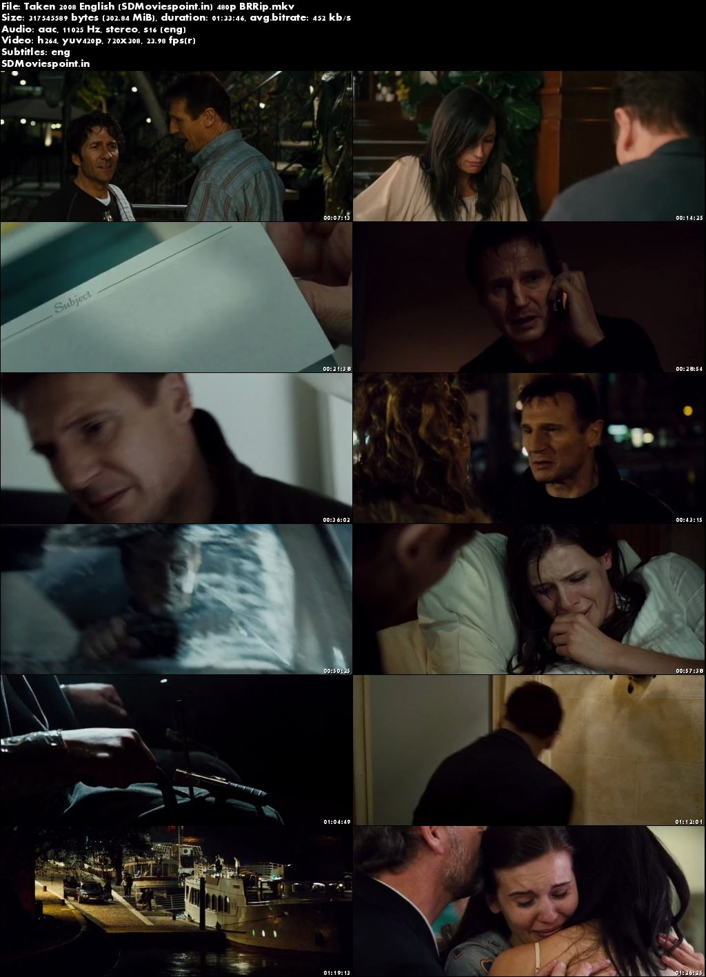 Screen Shots Taken 2008 Full HD Movie Download in English 720p