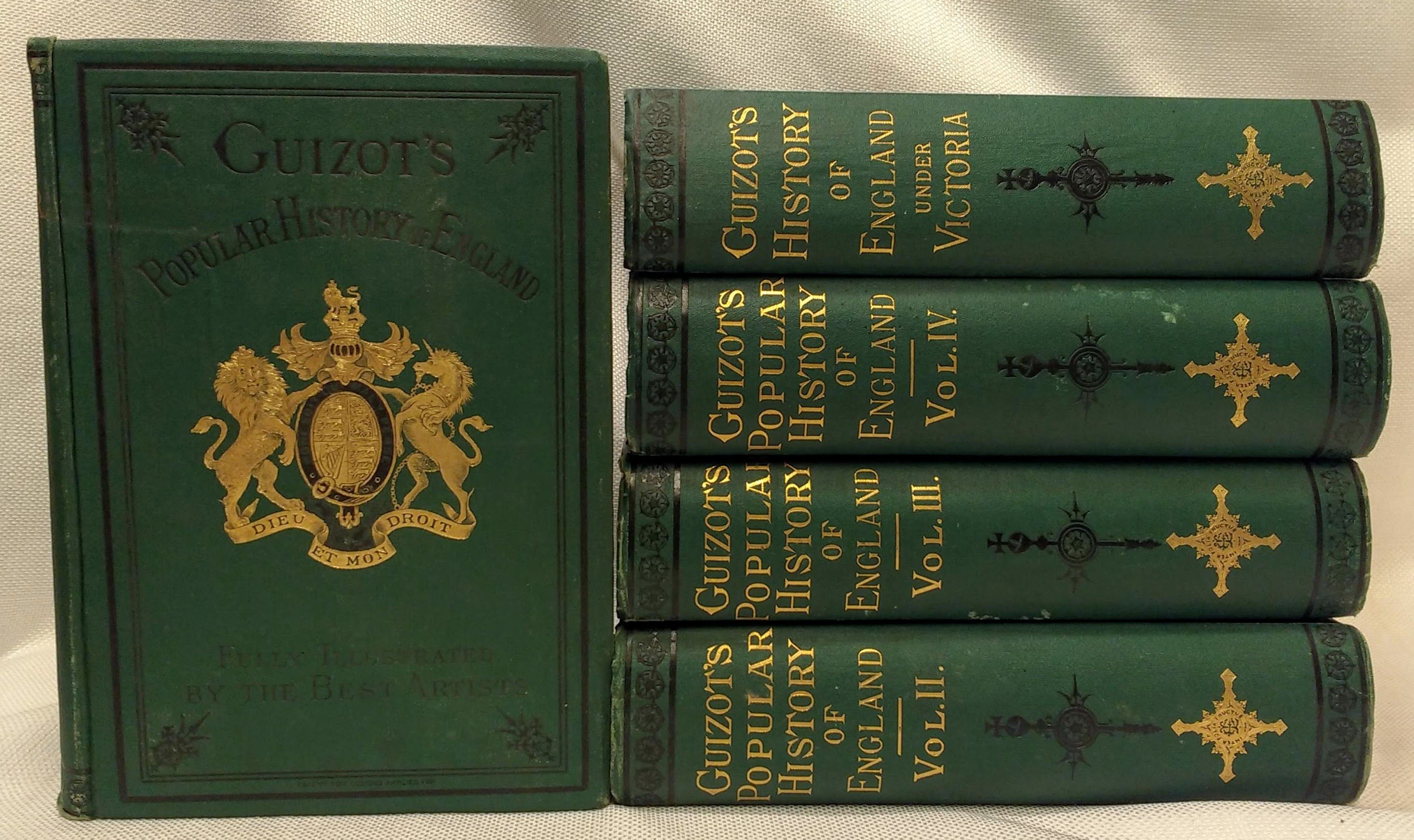 A Popular History of England from the Earliest Times to the Accession of Victoria (5 Volumes), M. Guizot; Ripley, M.M. (translator)