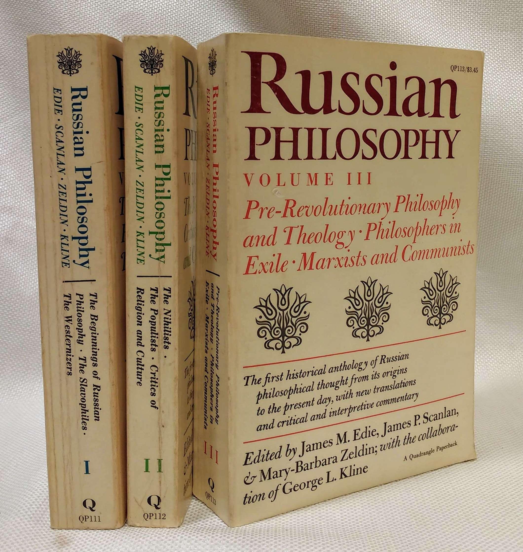 Russian Philosophy (Vols. I, II, & III), Edie, James M.; Scanlan, James P.; Zeldin, Mary-Barbara; Kline, George L., Eds.