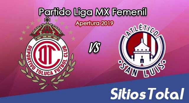 Ver Toluca vs Atlético San Luis en Vivo – Liga MX Femenil – Apertura 2019 – Lunes 14 de Octubre del 2019