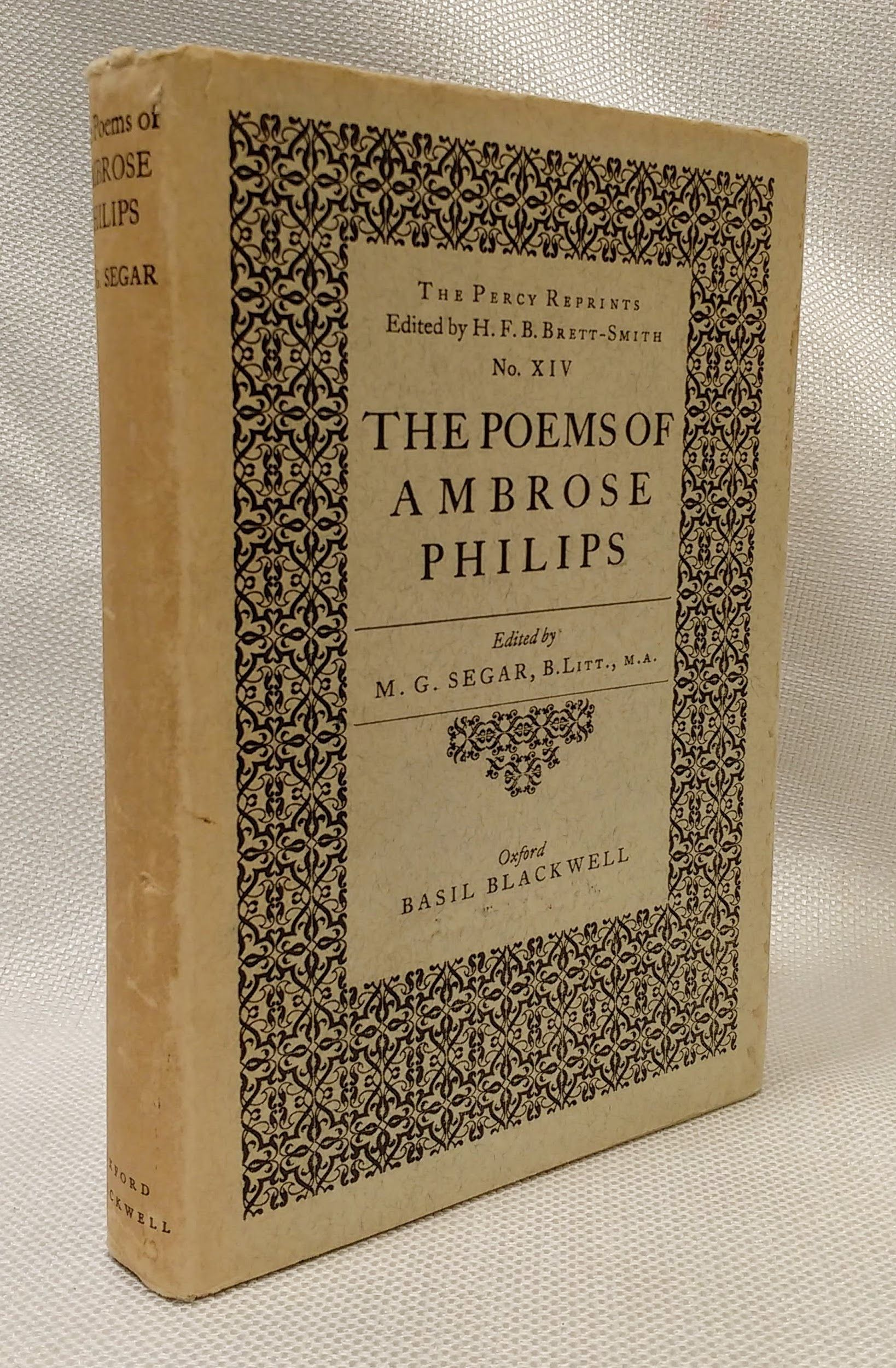 The Poems of Ambrose Philips, Philips, Ambrose; Segar, M. G. [ed.]