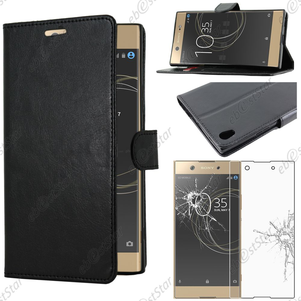 housse etui coque portefeuille simili cuir sony xperia xa1 ultra ebay. Black Bedroom Furniture Sets. Home Design Ideas