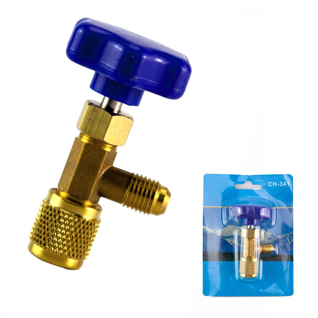 """US 1//4/"""" SAE Auto AC Can Tap Valve Bottle Opener Tool for R134a R410A Refrigerant"""