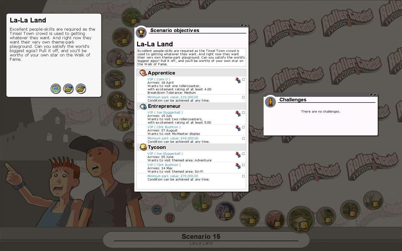 Scenario Information Image for FlightToAtlantis.net: RCT3 FAQ: Campaign Scenario Directory Specifics: La-La Land