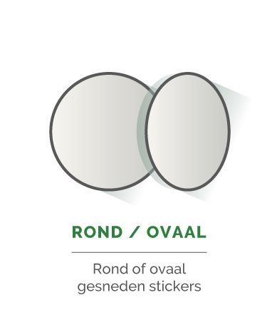 Rond of ovale stickers