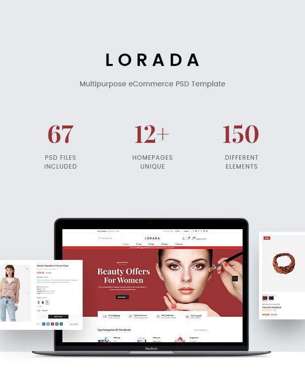 Lorada - Multipurpose eCommerce PSD Template - 2